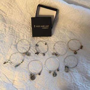 Alex and Ani bracelets silver and gold!!